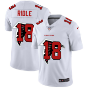 Wholesale Cheap Atlanta Falcons #18 Calvin Ridley White Men's Nike Team Logo Dual Overlap Limited NFL Jersey