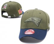 Wholesale Cheap NFL New England Patriots Team Logo Olive Peaked Adjustable Hat SG65