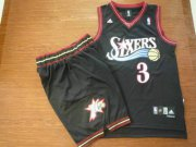 Wholesale Cheap Philadelphia 76ers 3 A.Iverson black color Basketball Suit