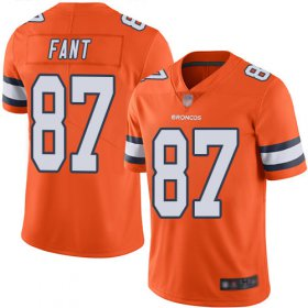 Wholesale Cheap Nike Broncos #87 Noah Fant Orange Men\'s Stitched NFL Limited Rush Jersey