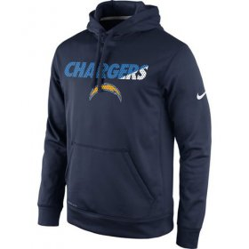 Wholesale Cheap Los Angeles Chargers Nike Kick Off Staff Performance Pullover Hoodie Navy