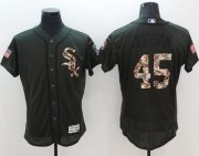 Wholesale White Sox #45 Michael Jordan Green Flexbase Authentic Collection Salute to Service Stitched Baseball Jersey