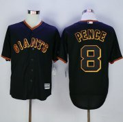 Wholesale Cheap Giants #8 Hunter Pence Black New Cool Base Fashion Stitched MLB Jersey