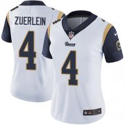 Wholesale Cheap Nike Rams #4 Greg Zuerlein White Women's Stitched NFL Vapor Untouchable Limited Jersey