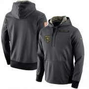 Wholesale Cheap Men's Chicago Bears Nike Anthracite Salute to Service Player Performance Hoodie