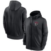 Wholesale Cheap Atlanta Falcons Nike Sideline Impact Lockup Performance Full-Zip Hoodie Black