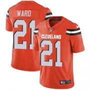 Wholesale Cheap Nike Browns #21 Denzel Ward Orange Alternate Youth Stitched NFL Vapor Untouchable Limited Jersey