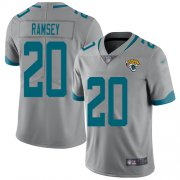 Wholesale Cheap Nike Jaguars #20 Jalen Ramsey Silver Men's Stitched NFL Limited Inverted Legend Jersey