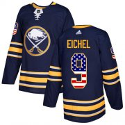 Wholesale Cheap Adidas Sabres #9 Jack Eichel Navy Blue Home Authentic USA Flag Stitched NHL Jersey