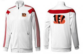 Wholesale Cheap NFL Cincinnati Bengals Team Logo Jacket White_1
