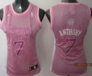 Wholesale Cheap New York Knicks #7 Carmelo Anthony Pink Womens Jersey