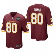 Cheap Washington Redskins #80 Dontrelle Inman Men's Nike Burgundy Bobby Mitchell Uniform Patch NFL Game Jersey