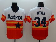 Wholesale Cheap Astros #34 Nolan Ryan White/Orange Flexbase Authentic Collection Cooperstown Stitched MLB Jersey