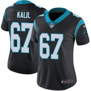 Wholesale Cheap Nike Panthers #67 Ryan Kalil Black Team Color Women's Stitched NFL Vapor Untouchable Limited Jersey