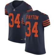 Wholesale Cheap Nike Bears #34 Walter Payton Navy Blue Alternate Men's Stitched NFL Vapor Untouchable Elite Jersey