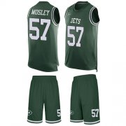 Wholesale Cheap Nike Jets #57 C.J. Mosley Martin Green Team Color Men's Stitched NFL Limited Tank Top Suit Jersey
