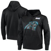 Wholesale Cheap Carolina Panthers Nike 100th Season Primary Logo Circuit Performance Pullover Hoodie Black