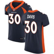 Wholesale Cheap Nike Broncos #30 Terrell Davis Navy Blue Alternate Men's Stitched NFL Vapor Untouchable Elite Jersey
