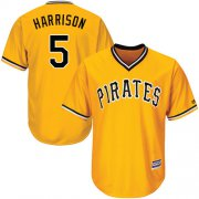 Wholesale Cheap Pirates #5 Josh Harrison Gold Cool Base Stitched Youth MLB Jersey