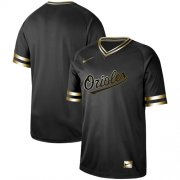 Wholesale Cheap Nike Orioles Blank Black Gold Authentic Stitched MLB Jersey