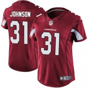 Wholesale Cheap Nike Cardinals #31 David Johnson Red Team Color Women's Stitched NFL Vapor Untouchable Limited Jersey