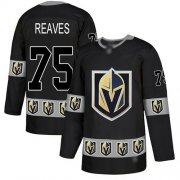 Wholesale Cheap Adidas Golden Knights #75 Ryan Reaves Black Authentic Team Logo Fashion Stitched NHL Jersey