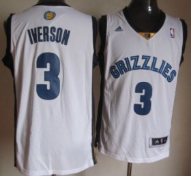 Wholesale Cheap Memphis Grizzlies #3 Allen Iverson Revolution 30 Swingman White Jersey