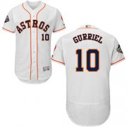 Wholesale Cheap Astros #10 Yuli Gurriel White Flexbase Authentic Collection 2019 World Series Bound Stitched MLB Jersey