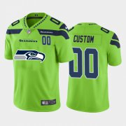 Wholesale Cheap Seattle Seahawks Custom Green Men's Nike Big Team Logo Player Vapor Limited NFL Jersey