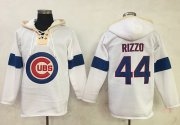 Wholesale Cheap Cubs #44 Anthony Rizzo White Pullover MLB Hoodie