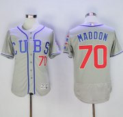 Wholesale Cheap Cubs #70 Joe Maddon Grey Flexbase Authentic Collection Alternate Road Stitched MLB Jersey
