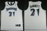 Wholesale Cheap Minnesota Timberwolves #21 Kevin Garnett White Swingman Jersey