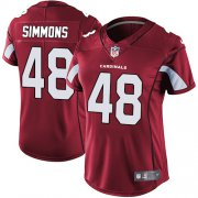 Wholesale Cheap Nike Cardinals #48 Isaiah Simmons Red Team Color Women's Stitched NFL Vapor Untouchable Limited Jersey