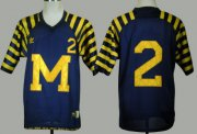Wholesale Cheap Michigan Wolverines #2 Charles Woodson Navy Blue Under The Lights Jersey
