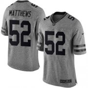 Wholesale Nike Packers #52 Clay Matthews Gray Men's Stitched NFL Limited Gridiron Gray Jersey
