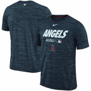 Wholesale Cheap Los Angeles Angels Nike Authentic Collection Velocity Team Issue Performance T-Shirt Navy