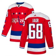 Wholesale Cheap Adidas Capitals #68 Jaromir Jagr Red Alternate Authentic Stitched NHL Jersey