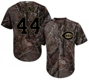 Wholesale Cheap Reds #44 Aristides Aquino Camo Realtree Collection Cool Base Stitched Youth MLB Jersey