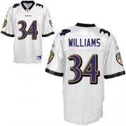 Wholesale Cheap Ravens #34 Ricky Williams White Stitched NFL Jersey
