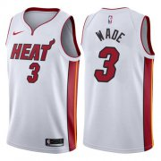 Wholesale Cheap Nike Miami Heat #3 Dwyane Wade White NBA Swingman Association Edition Jersey