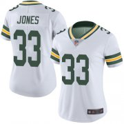 Wholesale Cheap Nike Packers #33 Aaron Jones White Women's Stitched NFL Vapor Untouchable Limited Jersey