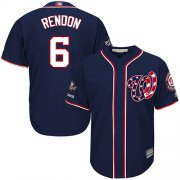 Wholesale Cheap Nationals #6 Anthony Rendon Navy Blue New Cool Base 2019 World Series Champions Stitched MLB Jersey