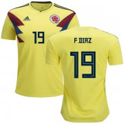 Wholesale Cheap Colombia #19 F.Diaz Home Kid Soccer Country Jersey