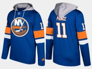 Wholesale Cheap Islanders #11 Shane Prince Blue Name And Number Hoodie