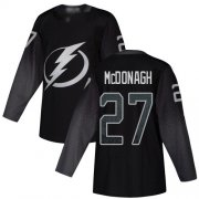 Cheap Adidas Lightning #27 Ryan McDonagh Black Alternate Authentic Youth Stitched NHL Jersey