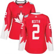 Wholesale Cheap Team Canada #2 Duncan Keith Red 2016 World Cup Women's Stitched NHL Jersey