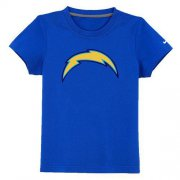 Wholesale Cheap Los Angeles Chargers Sideline Legend Authentic Logo Youth T-Shirt Blue