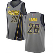 Wholesale Cheap Nike Pacers #26 Jeremy Lamb Gray NBA Swingman City Edition 2018-19 Jersey