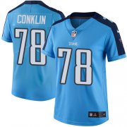 Wholesale Cheap Nike Titans #78 Jack Conklin Light Blue Women's Stitched NFL Limited Rush Jersey