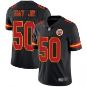 Wholesale Cheap Nike Chiefs #50 Willie Gay Jr. Black Youth Stitched NFL Limited Rush Jersey